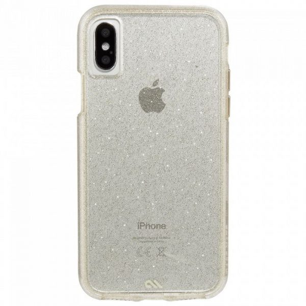Case Mate Glam iPhone X שקוף נצנצים
